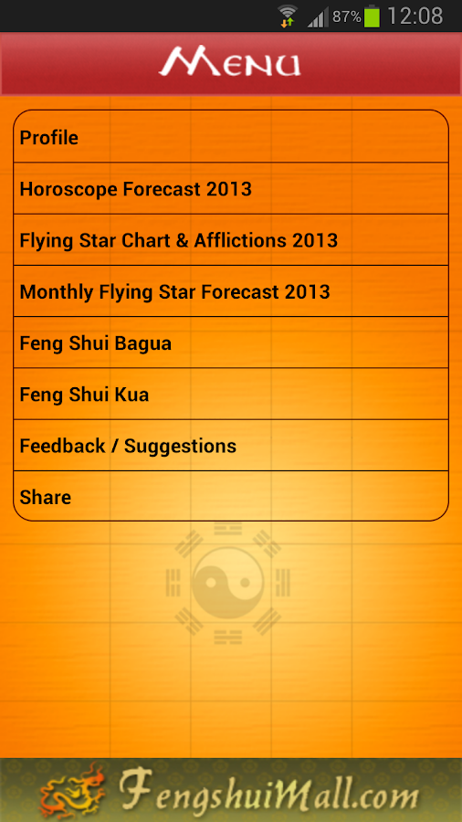 Feng Shui & Horoscope 2015 - screenshot