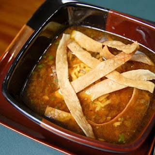 Poblano Meatball soup.