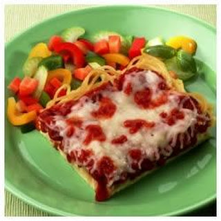 Deep-Dish Spaghetti Pizza Recipe