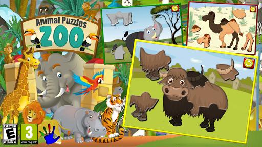 孩子們動物園動物拼圖遊戲