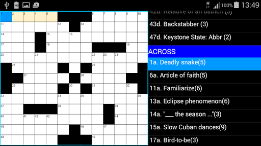 Crosswords US Style : ACE Vol1 2.1 screenshots 3