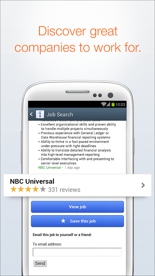 Screenshots of Indeed Job Search for Android