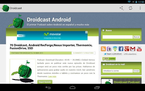 Droidcast Podcast - screenshot thumbnail