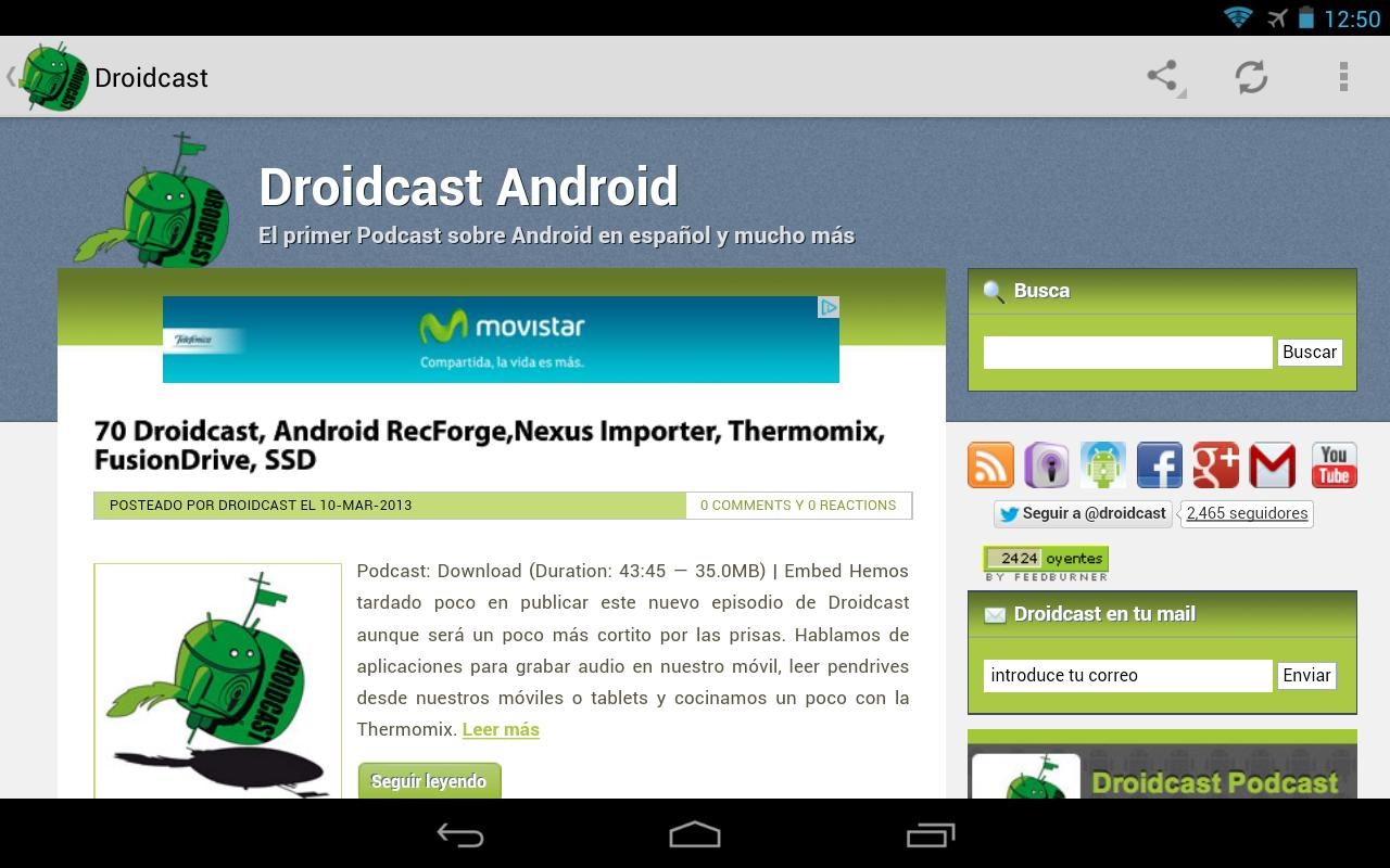 Droidcast Podcast - screenshot
