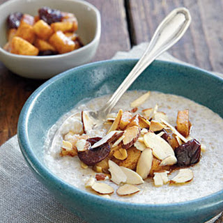 Sweet Almond Cream of Buckwheat with Skillet Pears.