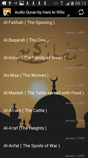 Audio Quran by Hani Ar Rifai