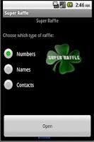 Screenshot of Super Raffle (sweepstakes)