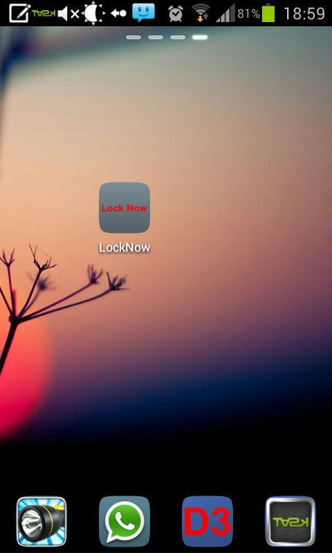 Lock Screen Now- screenshot