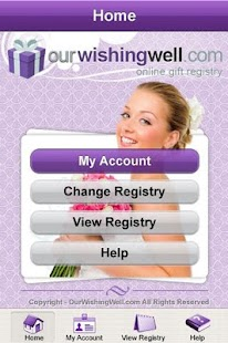 OurWishingWell Gifts Registry- screenshot thumbnail