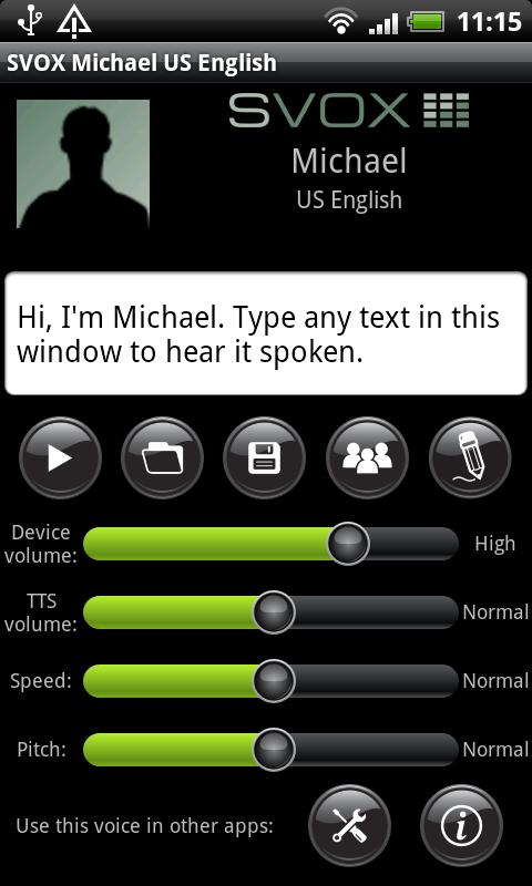 SVOX US English Michael Voice - screenshot