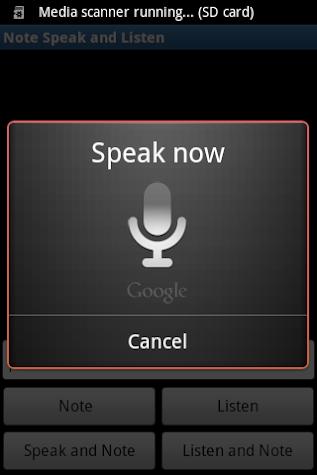 Note, Speak, Listen for Deaf Screenshot