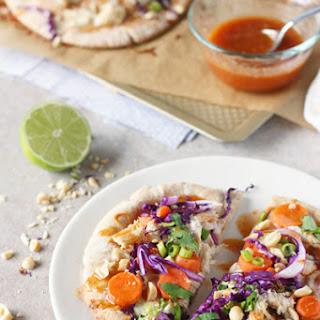 Thai Chicken Pita Pizzas