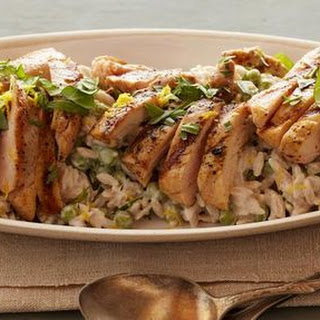 Creamy Lemon-Pepper Orzo with Grilled Chicken Recipe