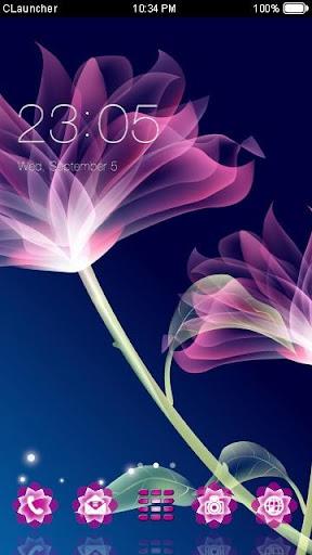 '霓虹花'手機主題——暢遊桌面
