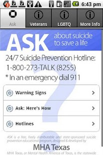 Ask & Prevent Suicide - screenshot thumbnail