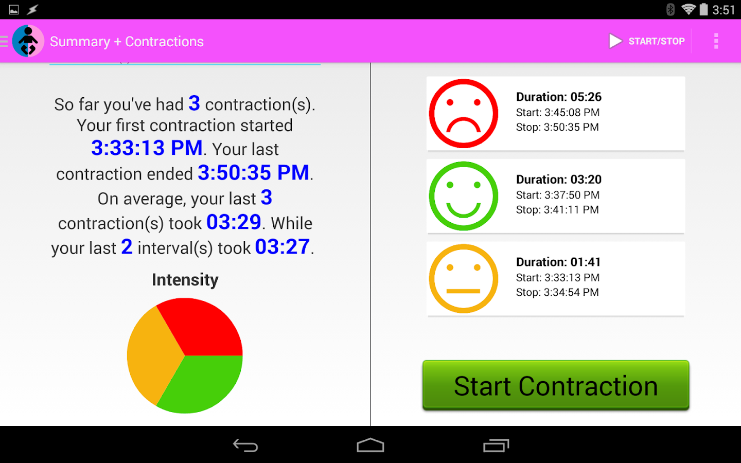 Easy Contraction Timer- screenshot