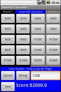 Jeopardy! Calculator - screenshot thumbnail