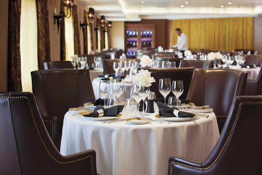Regent-Seven-Seas-Navigator-Prime7-2 - While sailing on Seven Seas Navigator, enjoy the classic steakhouse cuisine in the intimate Prime 7 dining room. Prime 7 is by reservation only (no extra charge).