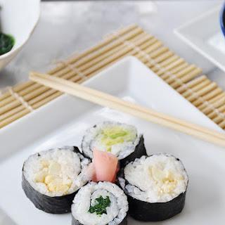 Vegetable Sushi Rolls.