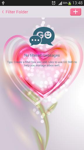 GO SMS Proのラブフラワー