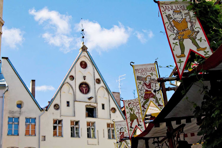 See the months of the year with medieval-style banners when you sail to Tallinn, Estonia, with Azamara Journey or Quest.