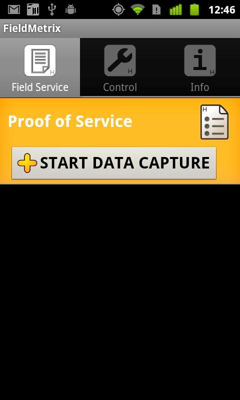 FieldMetrix Proof of Delivery- screenshot