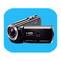 Background video recording camera icon
