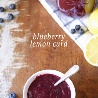 Homemade Blueberry Lemon Curd.