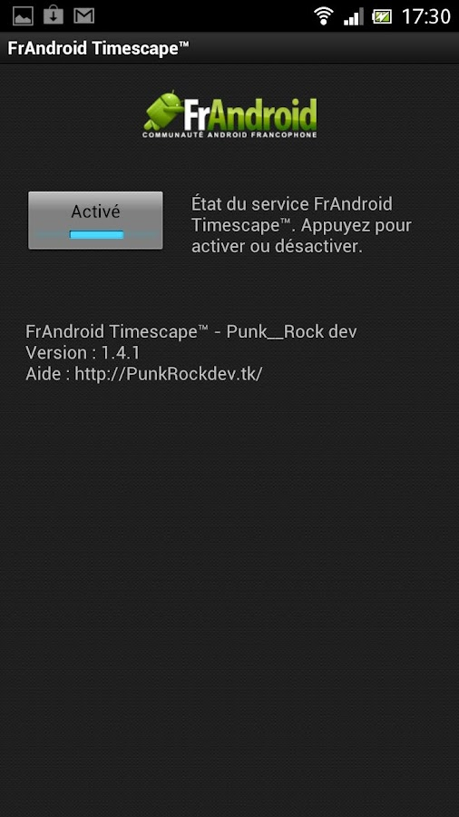 FrAndroid Timescape™ - screenshot