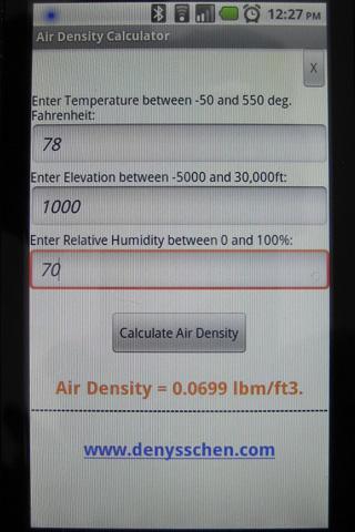 Air Density Calculator 1.3 screenshots 2