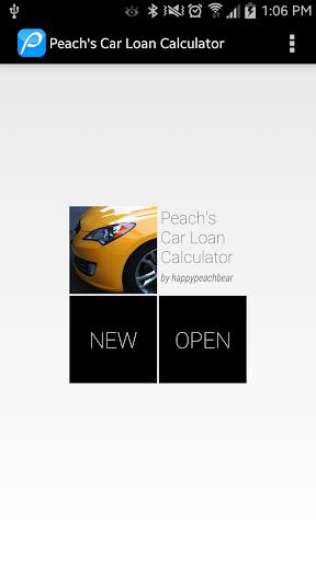 Peach's Car Loan Calculator