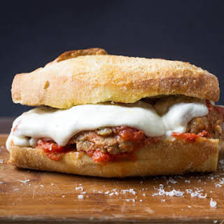 Italian-American Meatball Sandwiches.