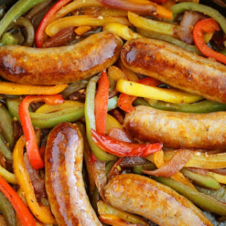 Skillet Italian Sausage, Peppers and Onions.
