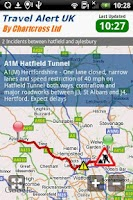 Screenshot of Traffic & Travel Alert UK