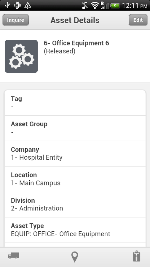Infor Lawson Mobile Assets - screenshot