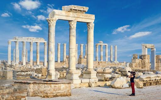 The ruins of Laodikeia near Denizli, Turkey.