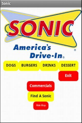 Sonic Drive In UNOFFICIAL Menu
