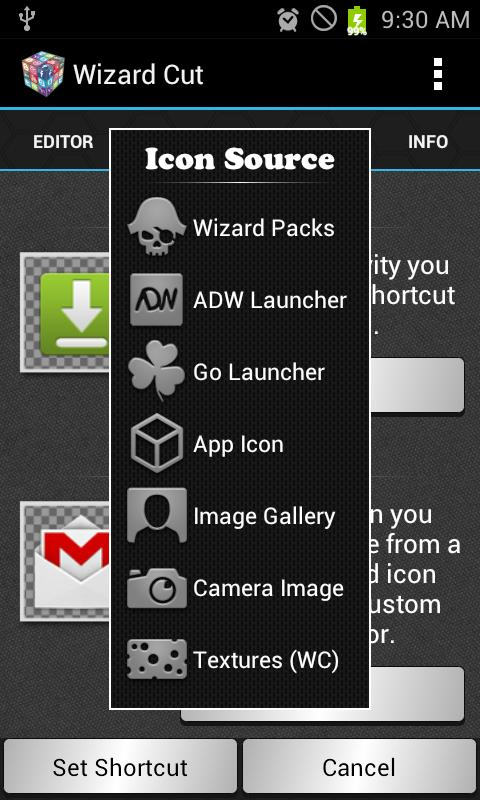 Wizard Cut Icon Changer- screenshot