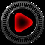 Poweramp skin Neon Red v1.34