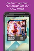 Screenshot of Gravy: fun local events nearby