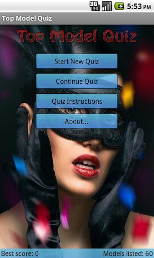Top Model Quiz