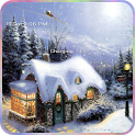 snow christmas santa claus icon