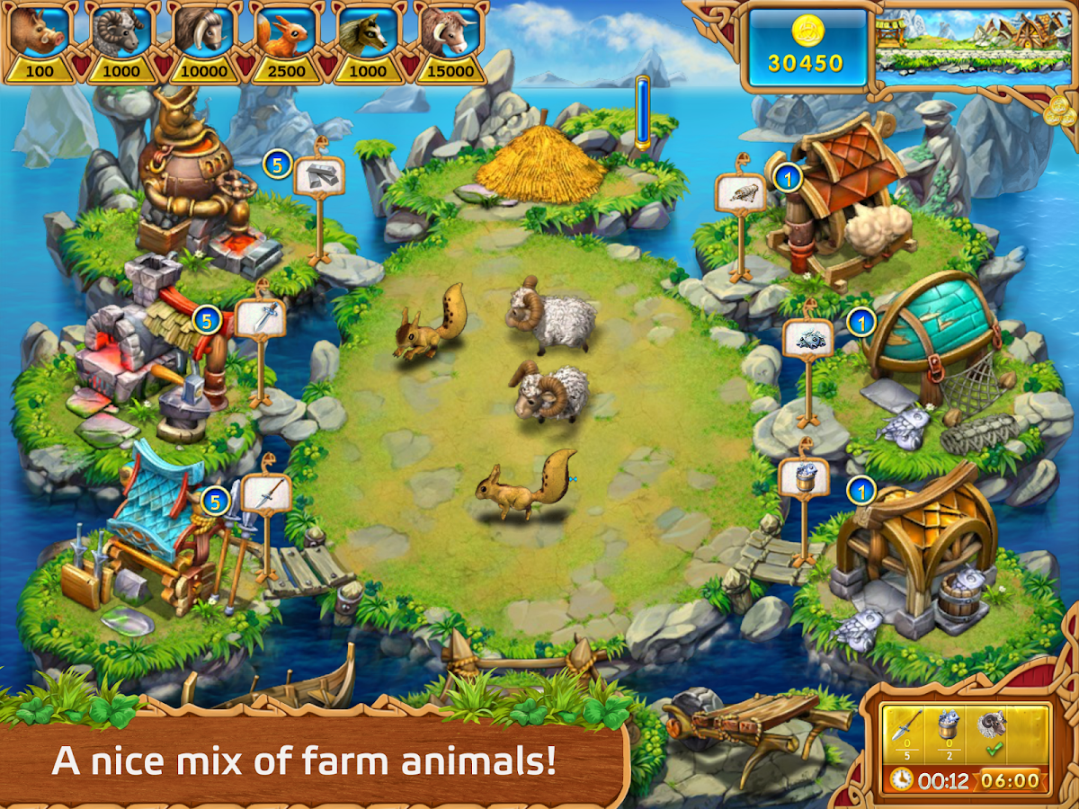 Farm Frenzy: Vikings (Free)- screenshot
