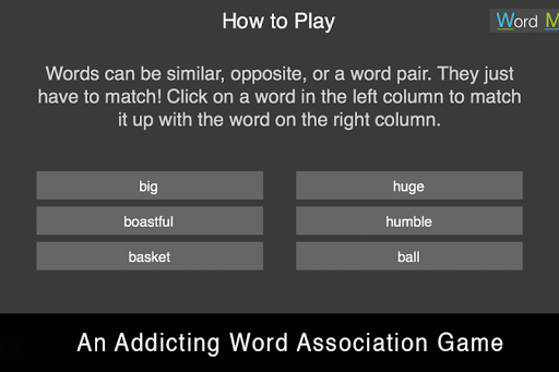 Word Match - Word Association