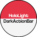 Dark ActionBar Red CM Theme icon