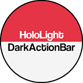 Dark ActionBar Red CM Theme