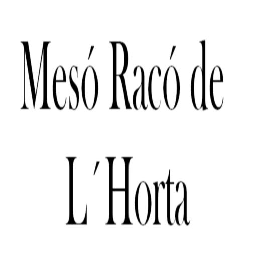 Carta Restaurante Racó L´Horta