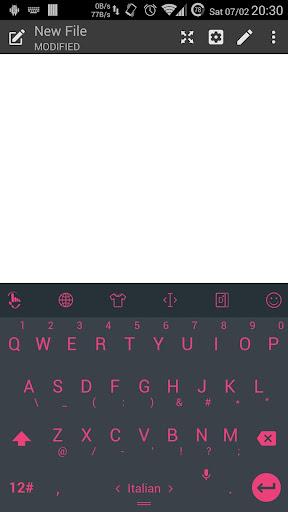 Theme TouchPal Droid L Pink