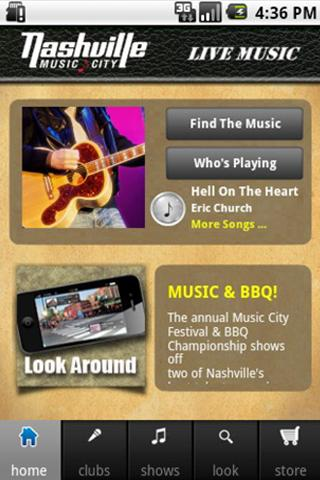 Nashville Live Music Guide - screenshot