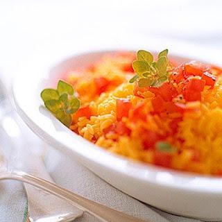 Saffron Rice with Tomatoes and Fresh Oregano
